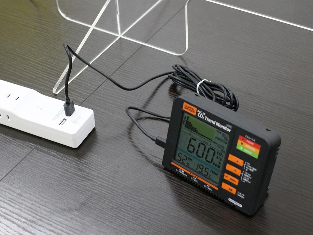 二酸化炭素濃度トレンドモニターUSB電源対応画像