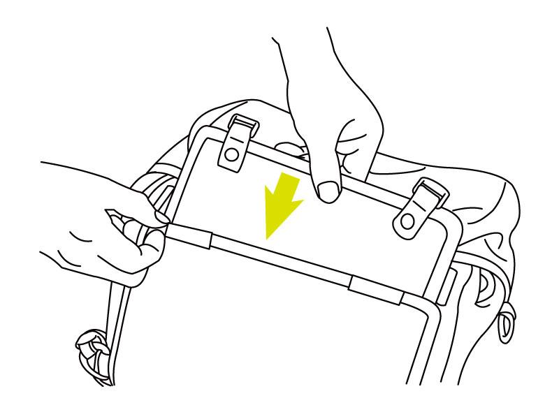 モトメディカルバッグ車体への装着方法画像
