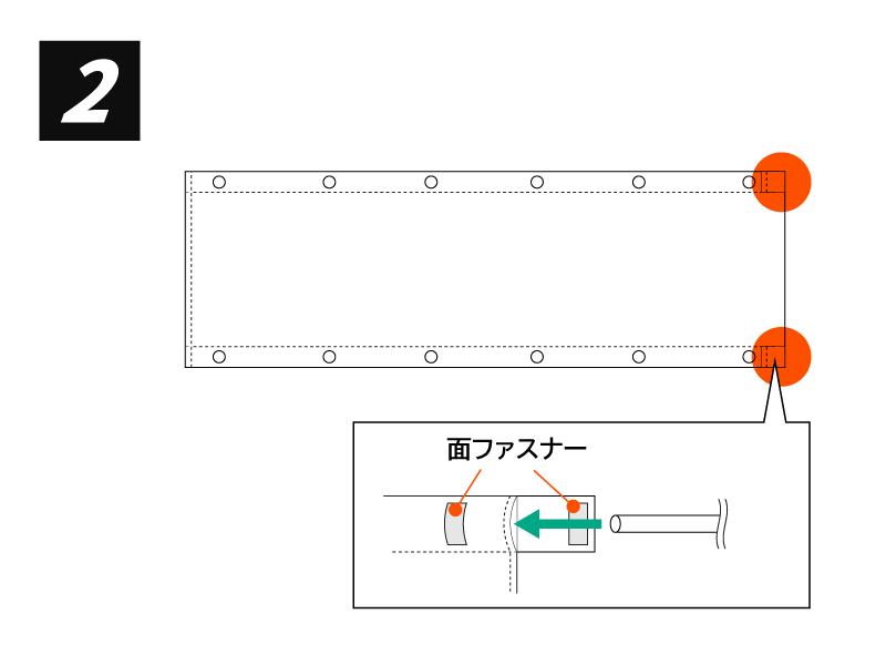 バイクツーリングコットテント組立方法(画像)画像