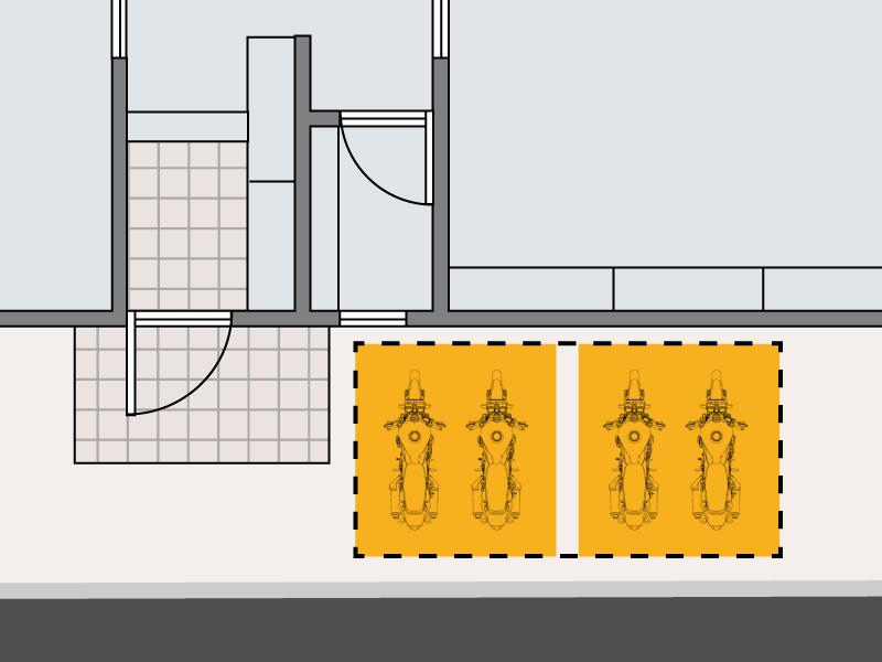 DCC538W-GY バイクガレージ 2500 ワイド 主な特徴の補足
