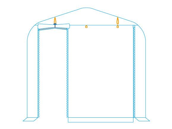 バイクガレージ 2500 ワイドワクワクドア開閉パターン画像