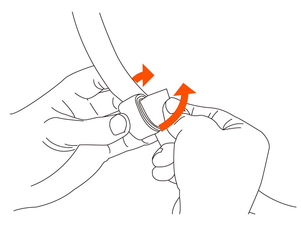 ナローバックパック余ったベルトの固定方法画像